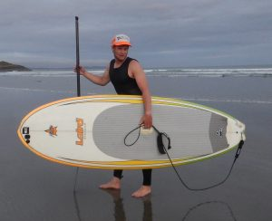 talented SUP surfer