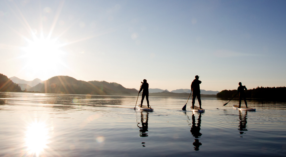tofino paddle boarding at grice bay