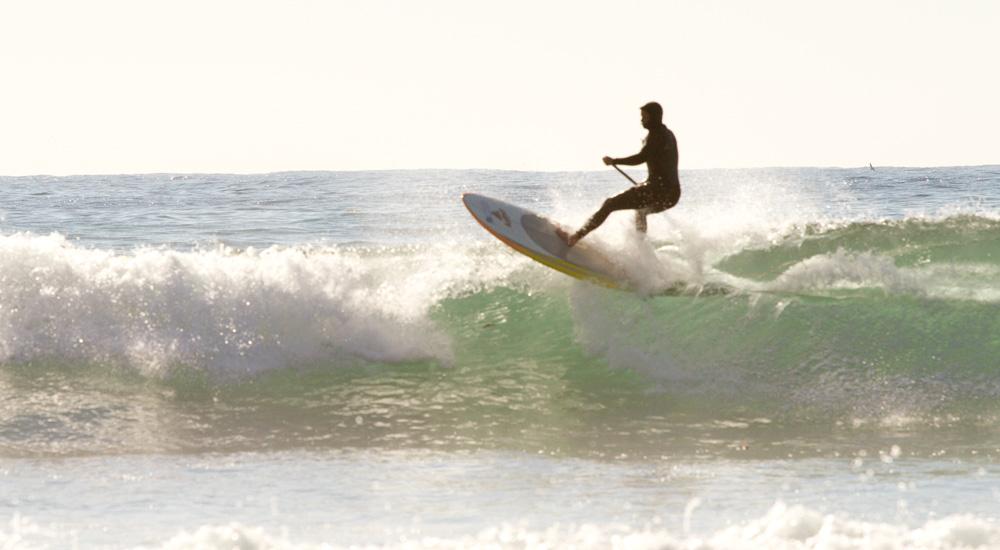 glen sup surfing